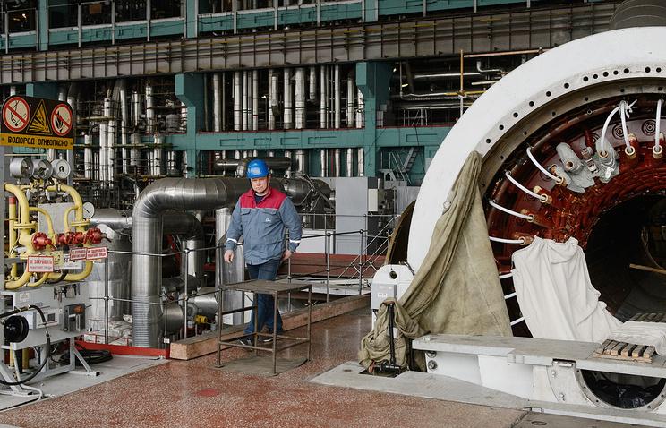 В турбинном зале Белоярской атомной электростанци