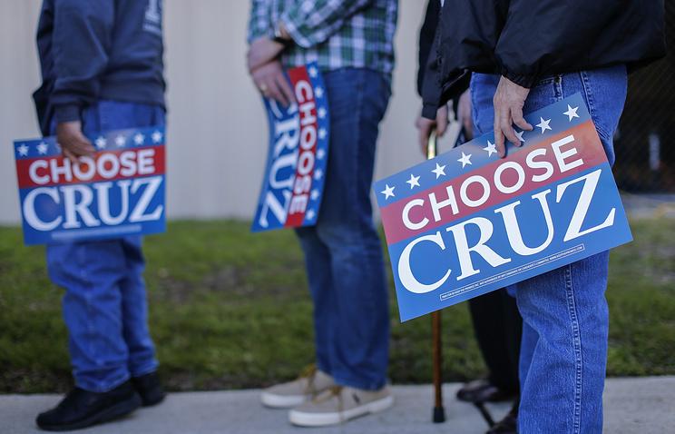 Сторонники сенатора от штата Техас Теда Круза