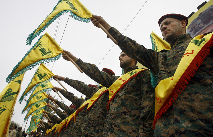 "Бойцы партии ""Хезболлах"""