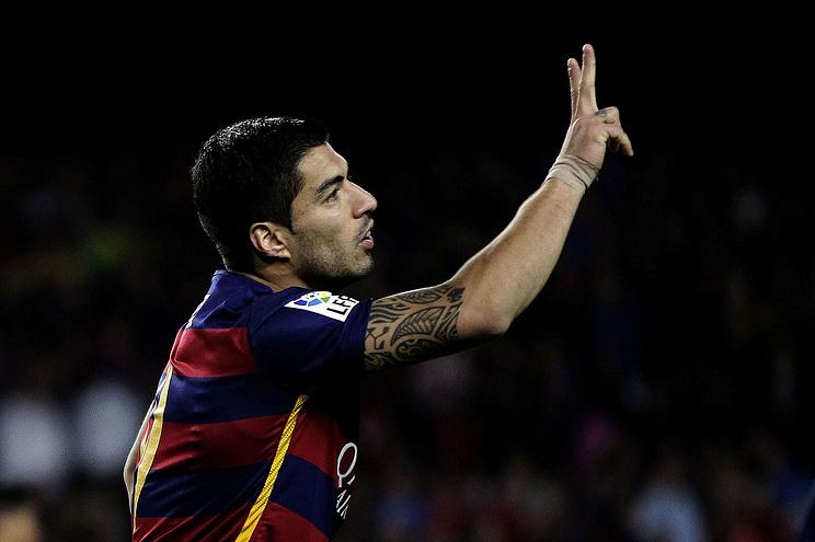Луис Суарес во время матча'Барселона-'Спортинг