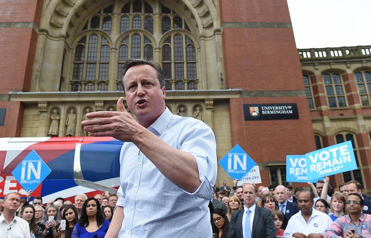 Премьер Англии проголосовал нареферендуме почленству страны вЕС