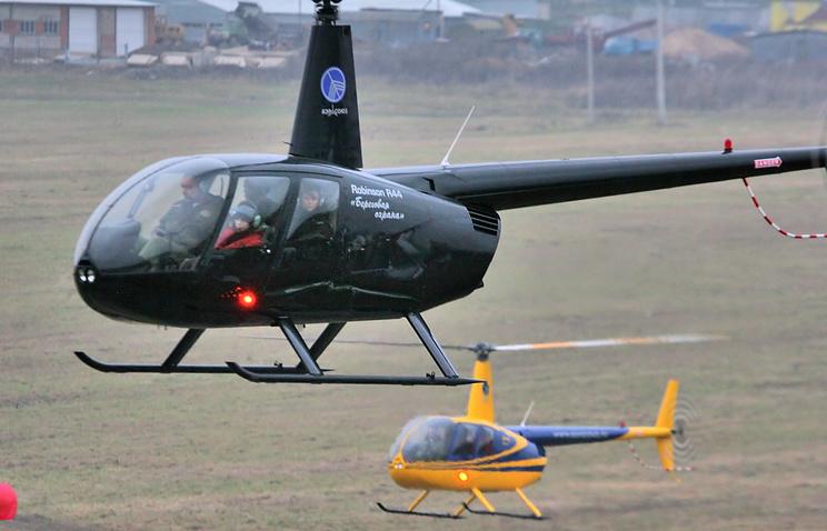 Cотрудники экстренных служб необнаружили пострадавших наместе жесткой посадки вертолета вКрасноярской крае