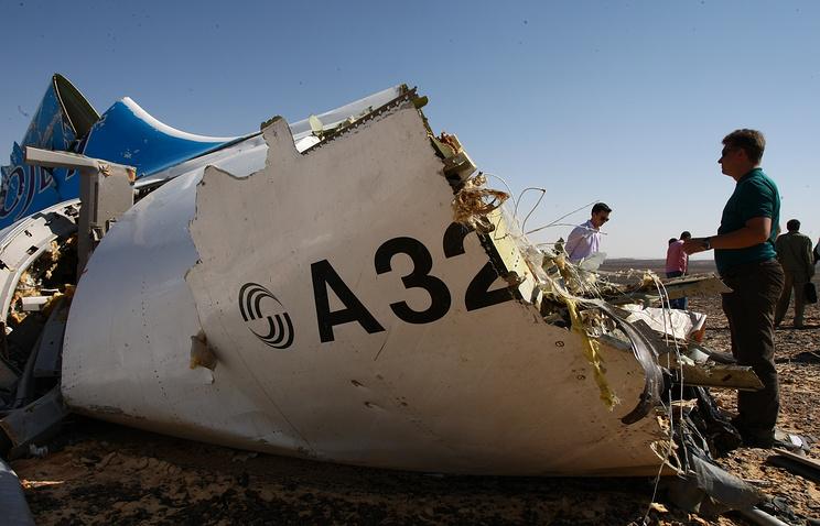 Специалисты определили место начала разрушения лайнера A321 вЕгипте