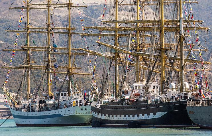 Церемония открытия Черноморской регаты огромных парусников 2016 вНовороссийске