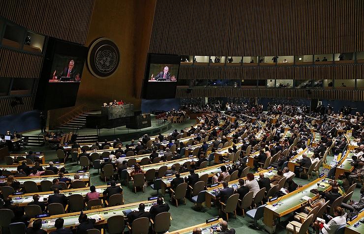 Уполномоченные США и Великобритании покинули зал впроцессе речи представителя Сирии