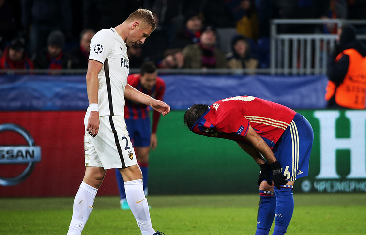 Лига чемпионов: футболисты ЦСКА сыграли вничью с«Монако» вдомашнем матче