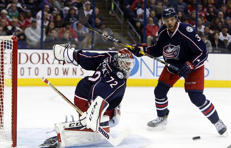 Сергей Бобровский признан первой звездой матча НХЛ