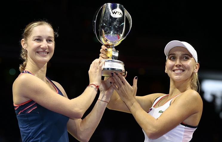 Веснина иМакарова вышли вфинал итогового турнира WTA впарном разряде
