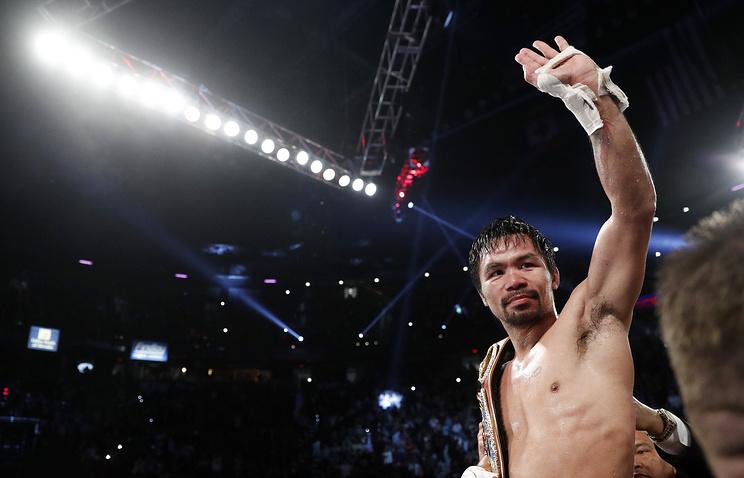 Пакьяо завоевал пояс чемпиона WBO впервом бою после возвращения наринг