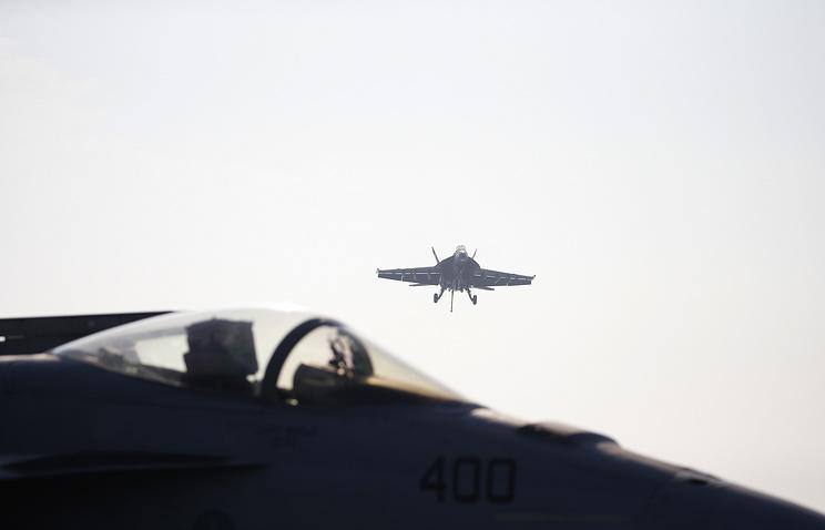 Над океаном снова столкнулись два американских военных самолёта