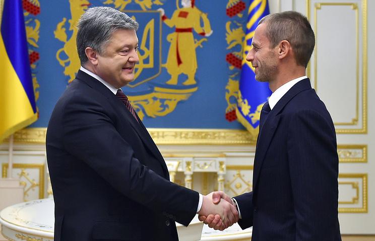 Президент UEFA проведет встречу спремьер-министром государства Украины