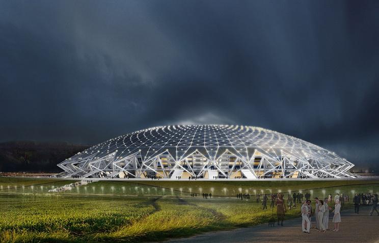 Проект стадиона в Самаре к ЧМ-2018