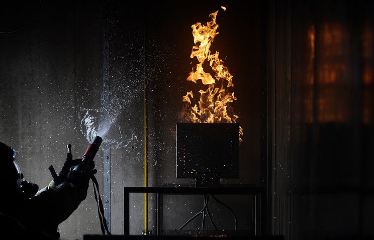Пожар произошел вмногоэтажном здании Академии народного хозяйства назападе столицы
