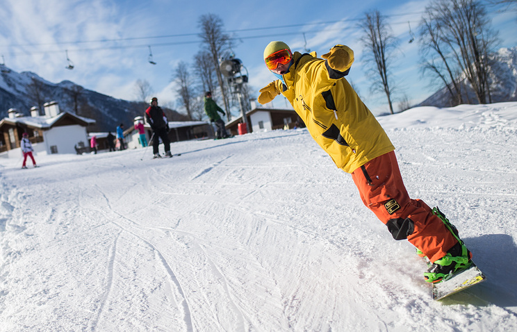 Вгорах Сочи открыт сезон зимнего отдыха
