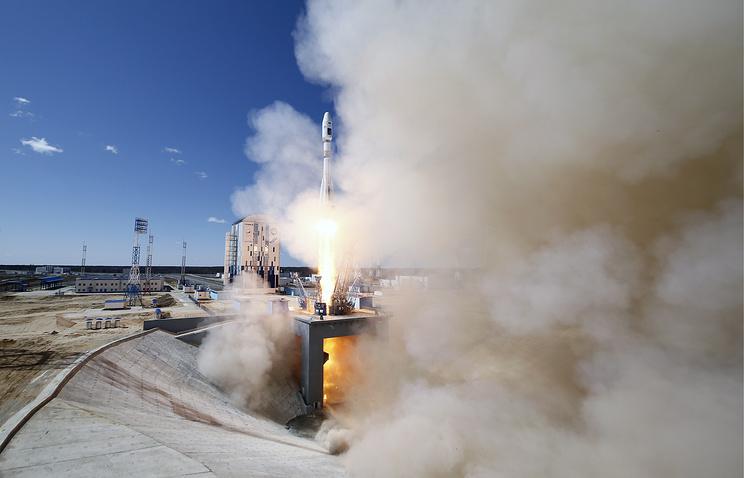 """Запуск ракеты """"Союз-2.1а"""" с космодрома Восточный"""