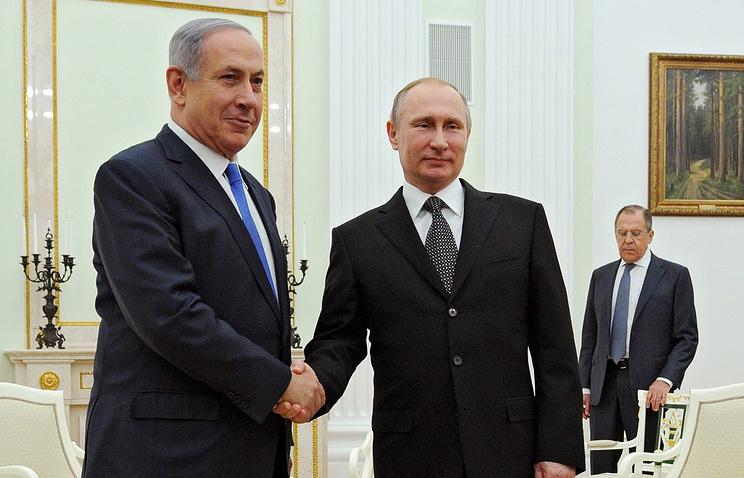 Путин иНетаньяху обсудили споры наБлижнем Востоке