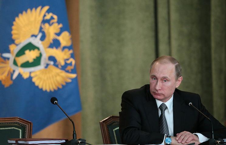 Путин потребовал отработников прокуратуры незамедлительной реакции нанарушение законов