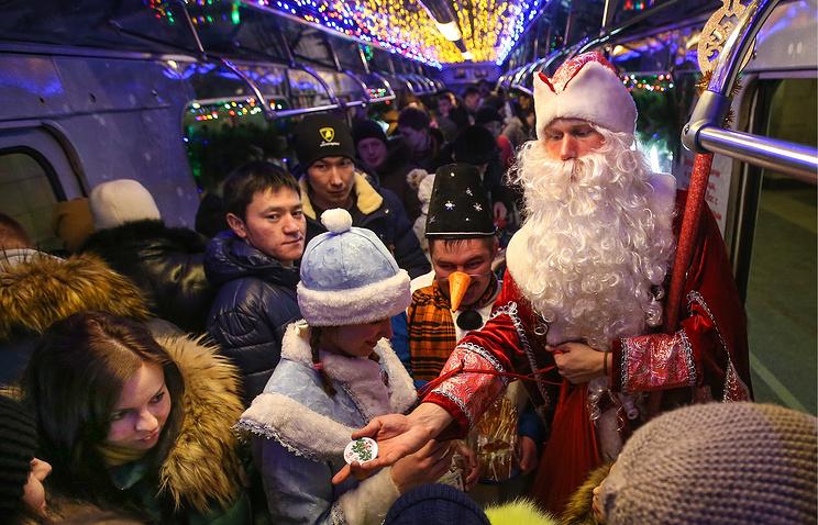 Впраздники городской транспорт столицы перевез 57 млн пассажиров