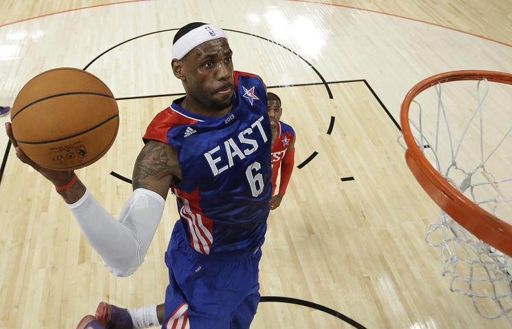 Леброн Джеймс примет участие вМатче звезд НБА в тринадцатый раз подряд