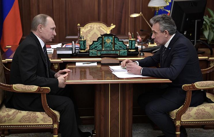 Президент Владимир Путин встретился сглавой банка ВЭБ Сергеем Горьковым