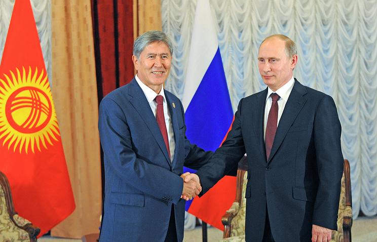 Президент Киргизии Алмазбек Атамбаев и президент РФ Владимир Путин, 13 сентября 2013 года