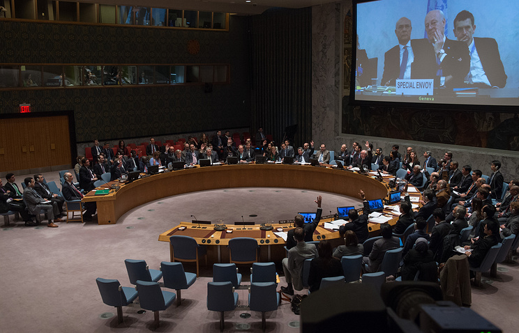 Российская Федерация наложила вето нарезолюциюСБ ООН осанкциях против Сирии