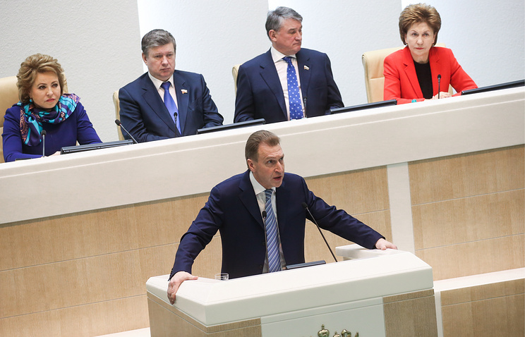 Первый вице-премьер РФ Игорь Шувалов (на первом плане)