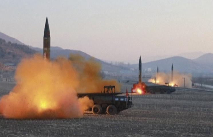 Запуск баллистических ракет с территории КНДР