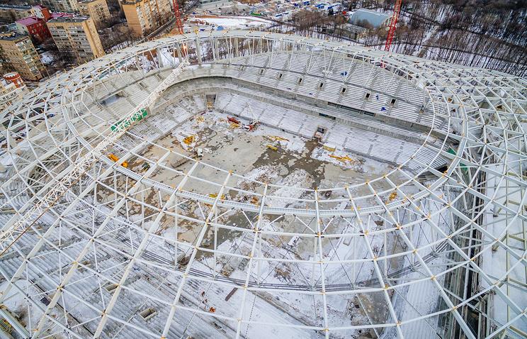 """Строительство стадиона """"Динамо"""""""
