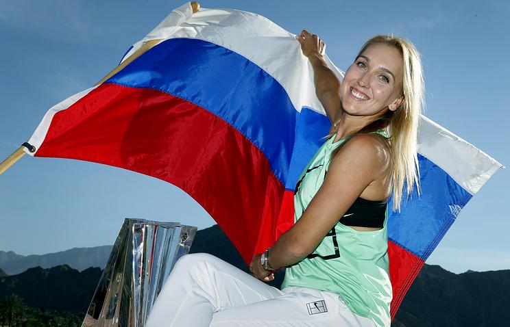 Теннисистка Веснина выиграла две позиции врейтинге WTA