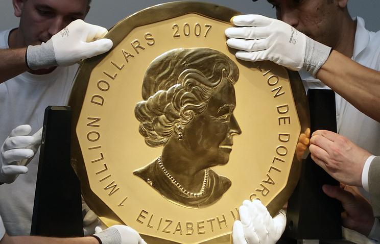 ВБерлине измузея украли 100-килограммовую монету изчистого золота