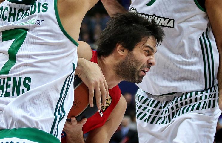 ЦСКА уступил «Панатинаикосу» вматче 29-го тура баскетбольной Евролиги