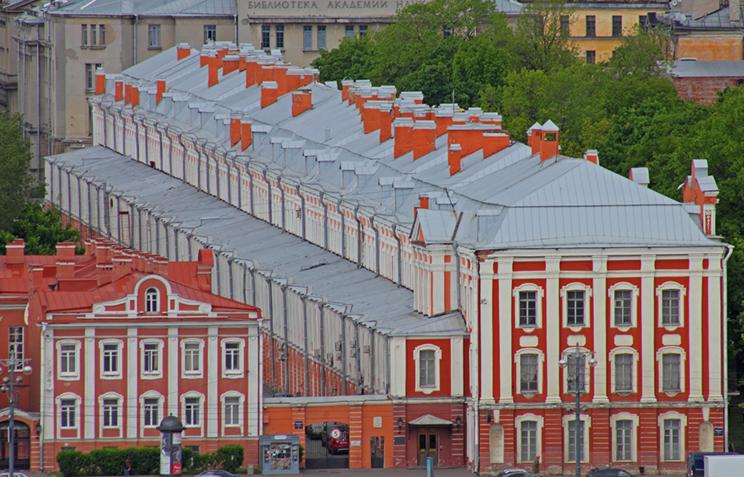 СПБГУ. СанктПетербург, Россия. Ансамбль Университетской набережной