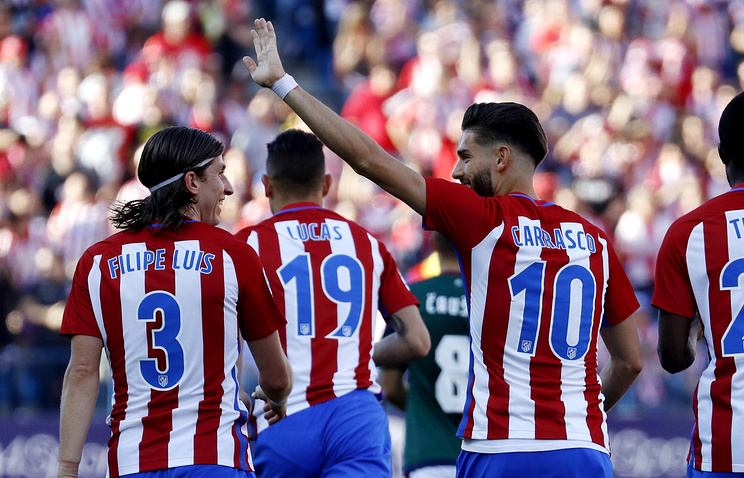 «Атлетико» разгромил «Осасуну» вматче чемпионата Испании пофутболу