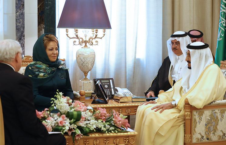 Председатель Совета Федерации Валентина Матвиенко встретилась с королем Саудовской Аравии Сальманом Бен Абдельазизом Аль Саудом