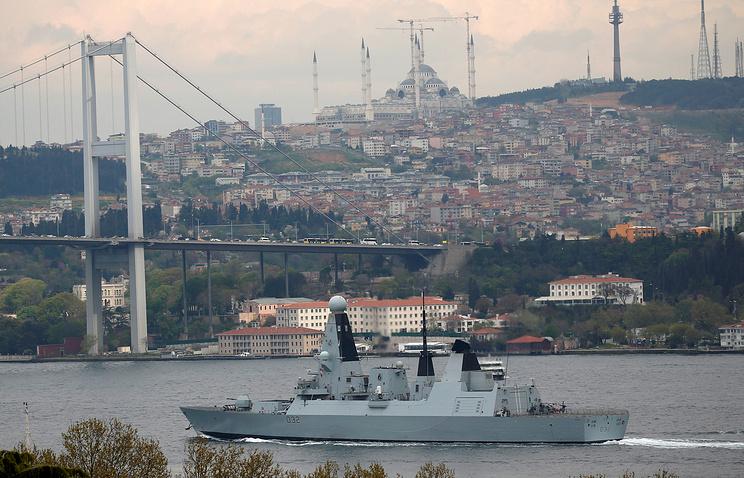 Крупнейший британский миноносец HMS Daring вошел втерриториальные воды Украинского государства