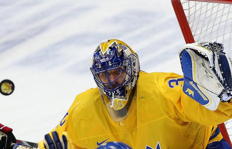 Вратарь сборной Швеции Хенрик Лундквист