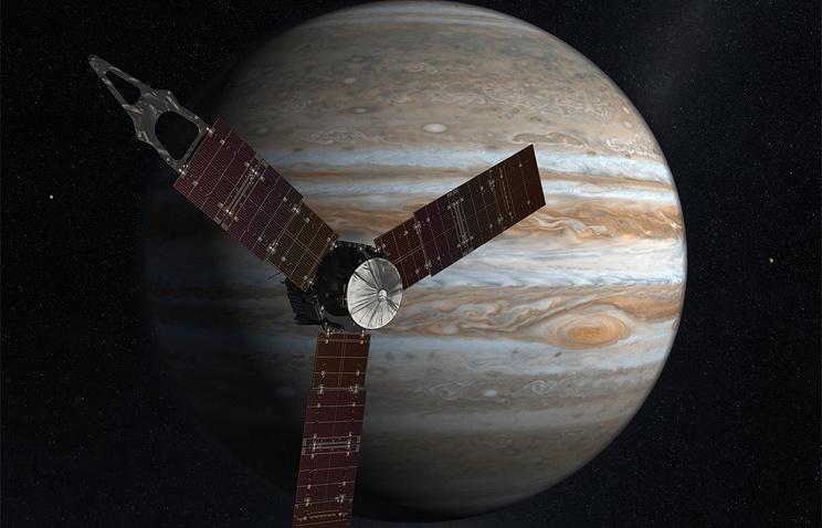 Зонд Juno записал «музыку» Юпитера