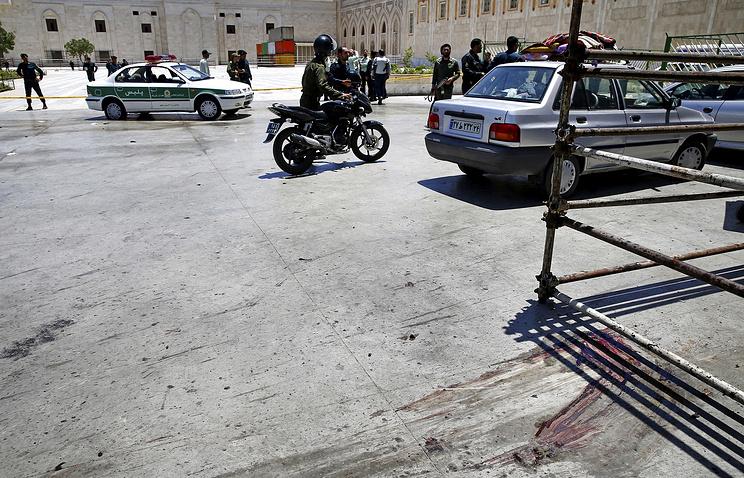 На месте теракта в Тегеране