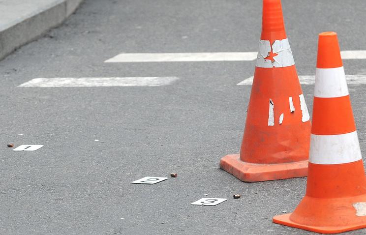 Гильзы на месте убийства бывшего депутата Государственной думы РФ Дениса Вороненкова, Киев