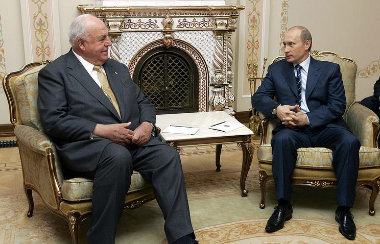 Бывший канцлер ФРГ Гельмут Коль и президент России Владимир Путин, 2005 год