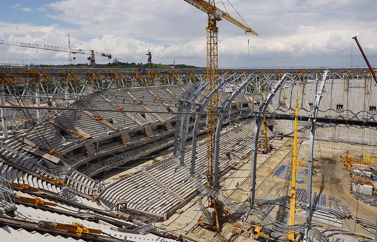 Строительство стадиона ЧМ-2018 в Волгограде