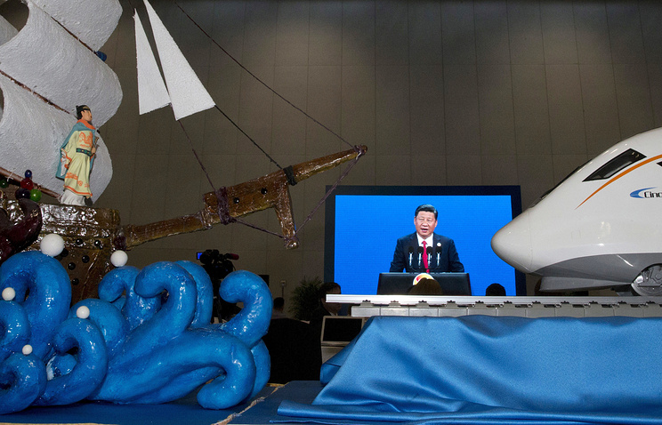 """Си Цзиньпин выступает на открытии форума """"Один пояс, один путь"""", Пекин"""