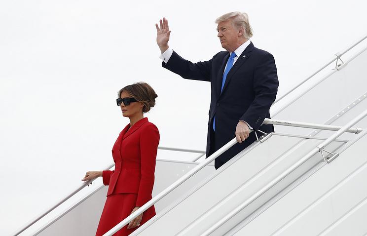Президент США Дональд Трамп и его супруга Меланья Трамп
