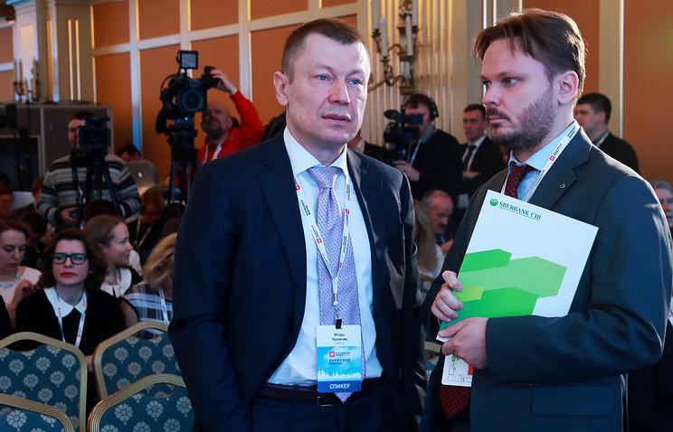 """Финансовый директор """"Алросы"""" Игорь Куличик (слева)"""