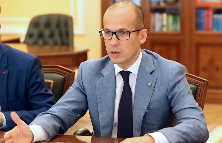 Александр Бречалов во время встречи с министром спорта РФ Павлом Колобковым