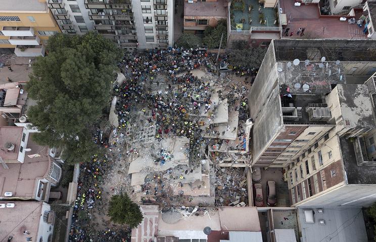 Последствия землетрясения в Мексике, 19 сентября 2017 года
