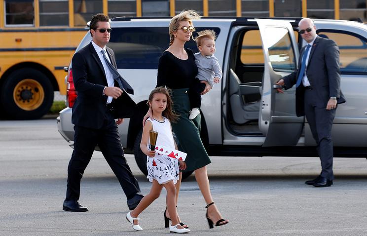 Иванка Трамп с детьми Арабеллой и Теодором