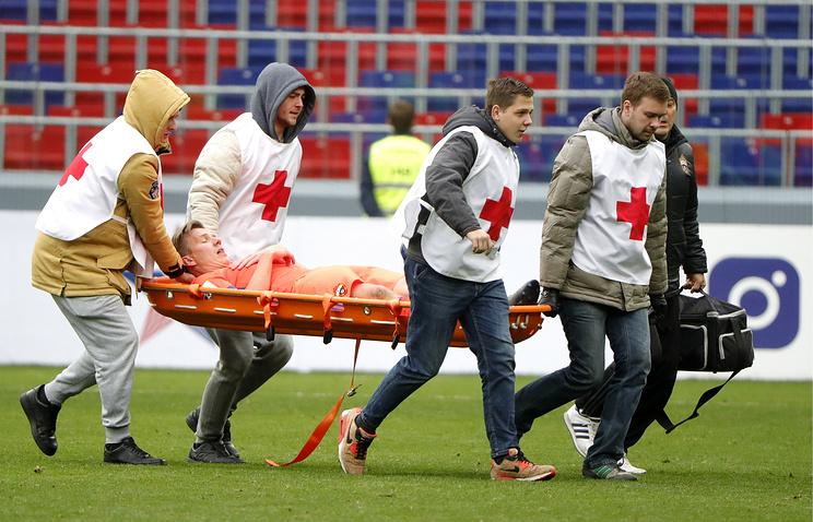 Футболист ЦСКА Вернблум получил глубокую рваную травму ноги