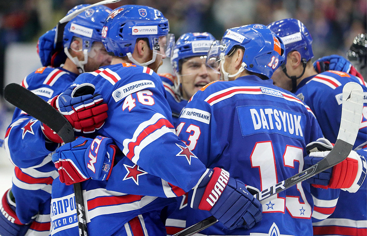 4 шайбы Гусева помогли СКА обыграть «Локомотив» вматче КХЛ